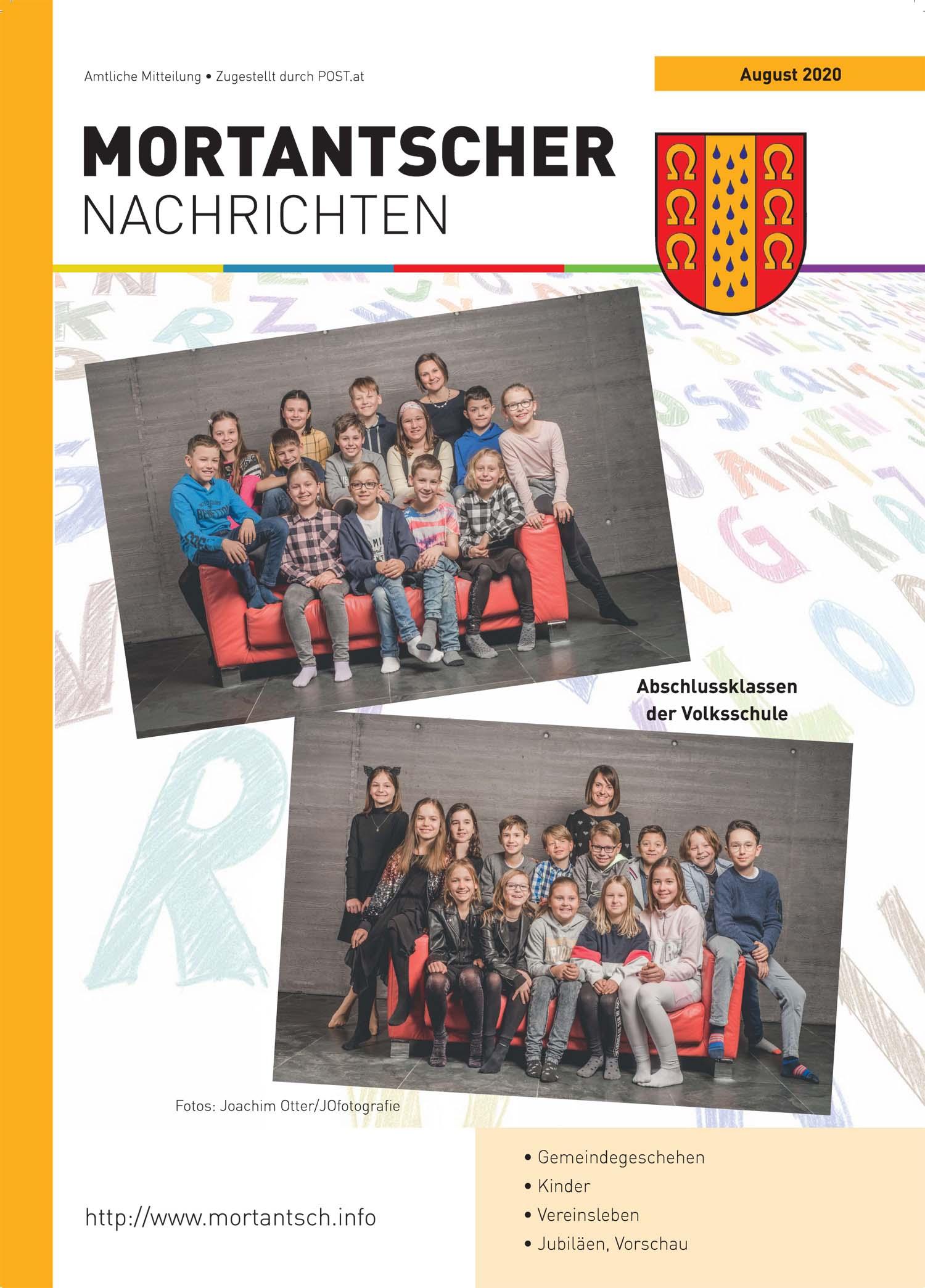 """Featured image for """"Mortantscher Nachrichten August 2020"""""""
