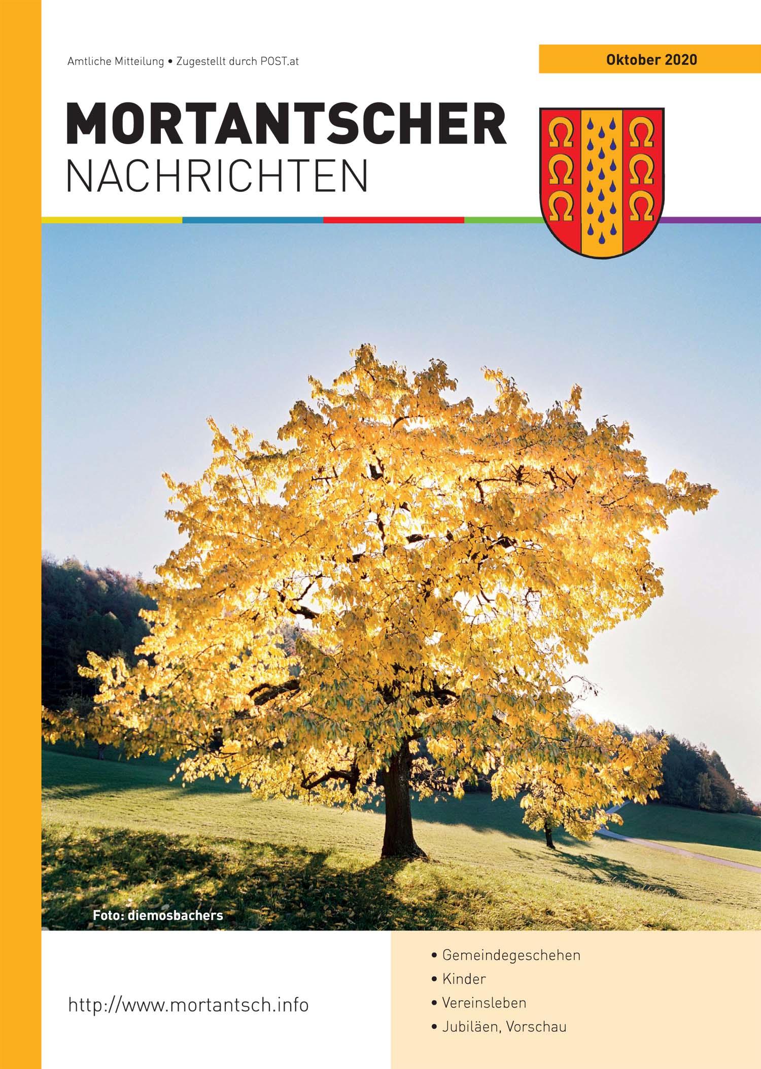 """Featured image for """"Mortantscher Nachrichten Oktober 2020"""""""