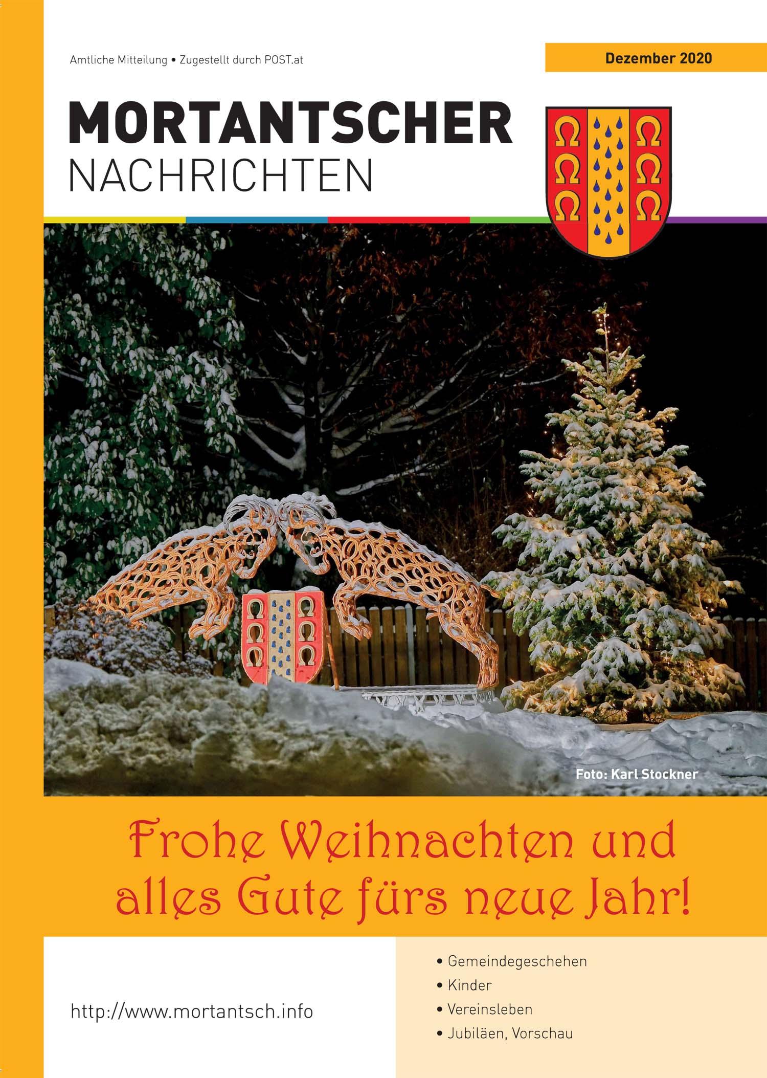 "Featured image for ""Mortantscher Nachrichten Dezember 2020"""