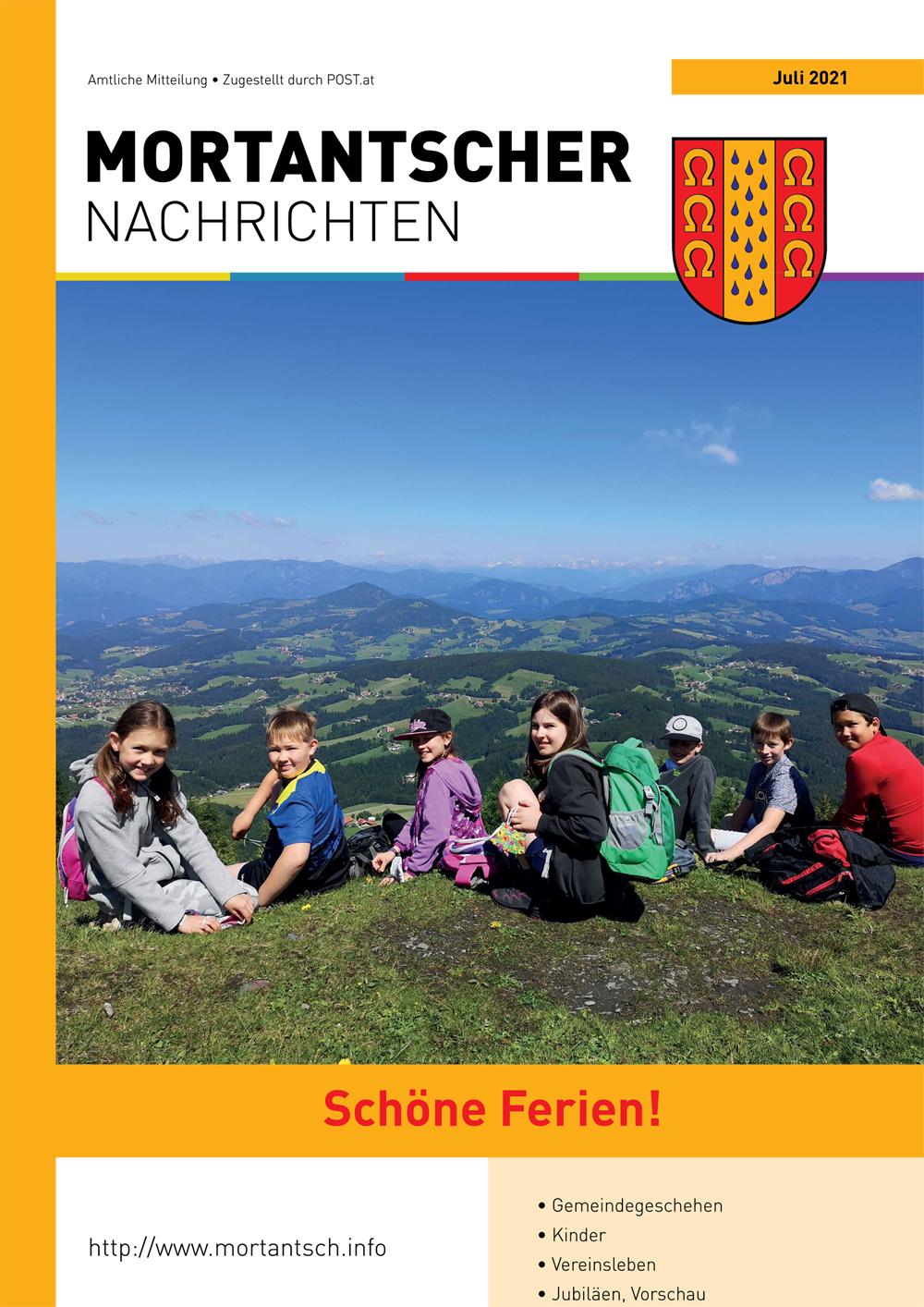 """Featured image for """"Mortantscher Nachrichten Juli 2021"""""""