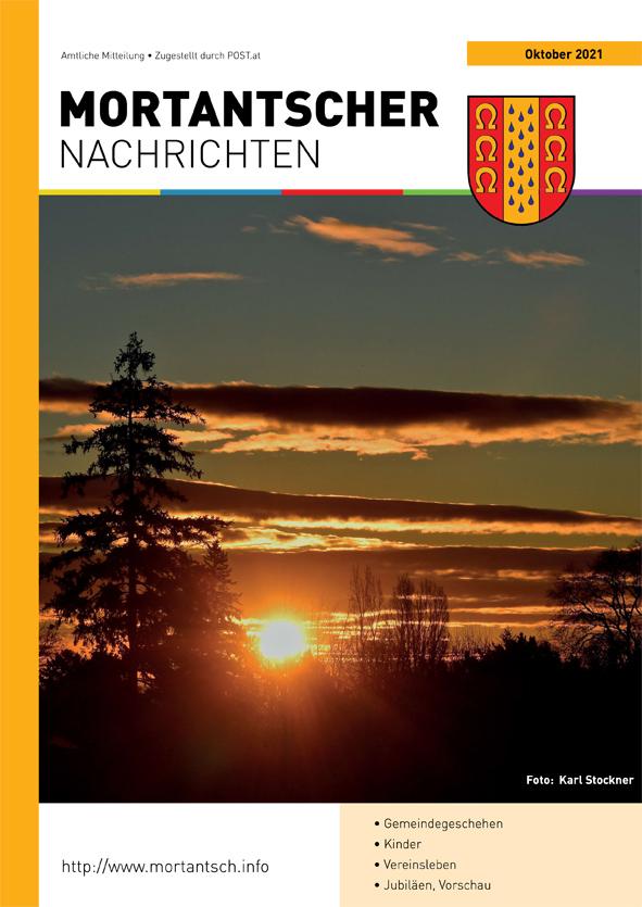 """Featured image for """"Mortantscher Nachrichten Oktober 2021"""""""
